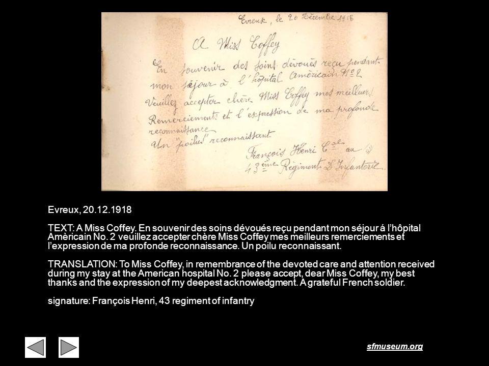 Page 31 Evreux, 20.12.1918.