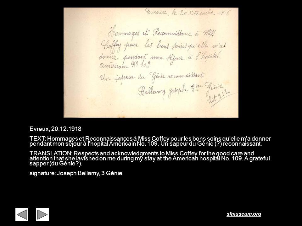 Page 32 Evreux, 20.12.1918.
