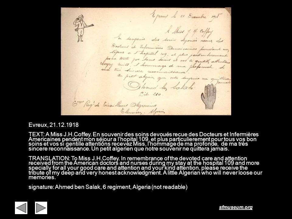 Page 34 Evreux, 21.12.1918.