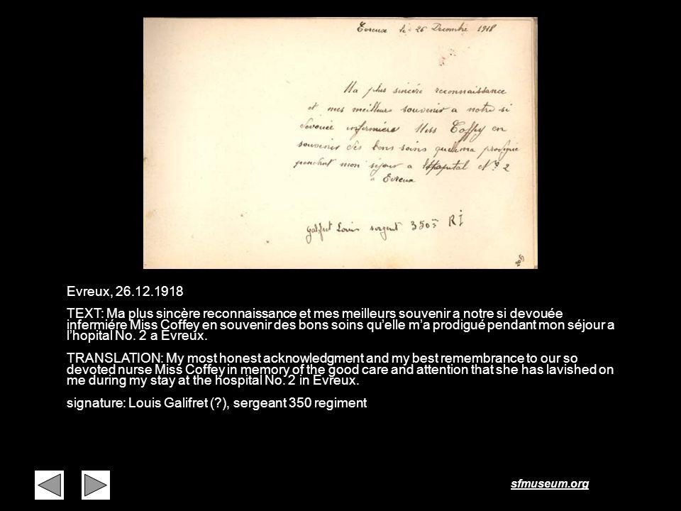 Page 36 Evreux, 26.12.1918.