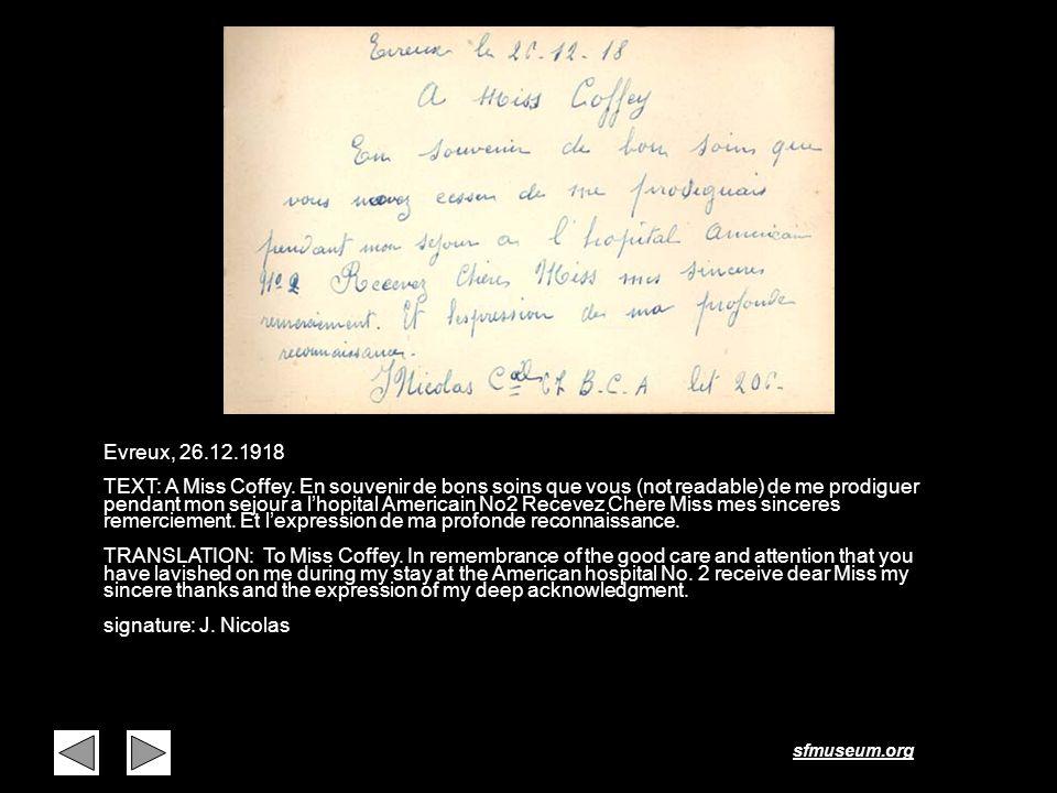 Page 37 Evreux, 26.12.1918.