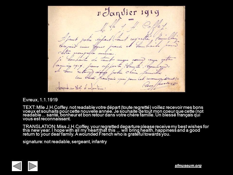 Page 41 Evreux, 1.1.1919.