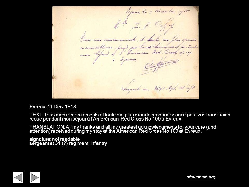 Page 2 Evreux, 11 Dec. 1918.