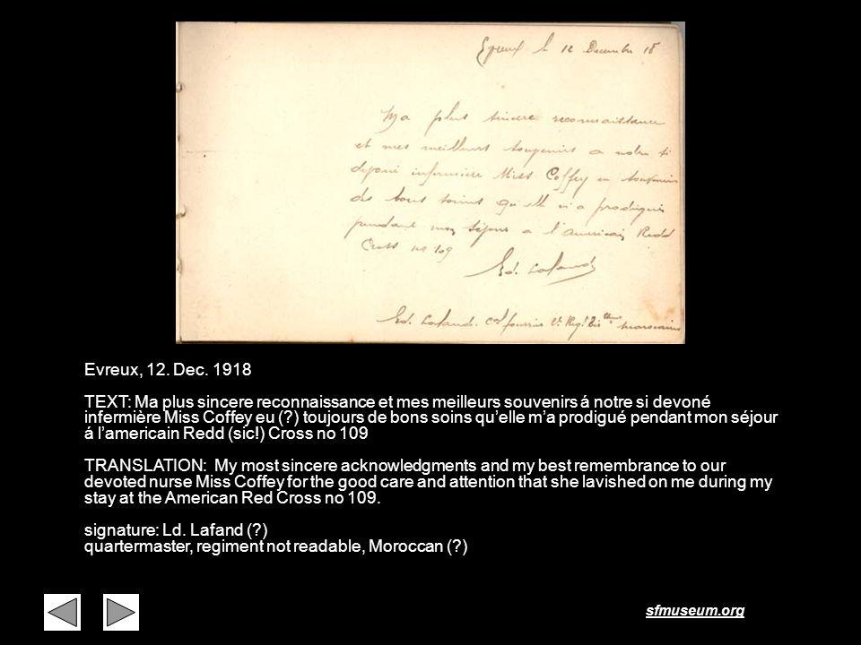 Page 4 Evreux, 12. Dec. 1918.