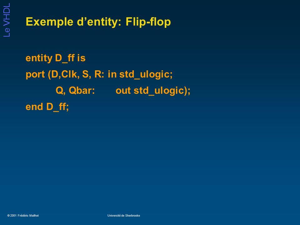 Exemple d'entity: Flip-flop