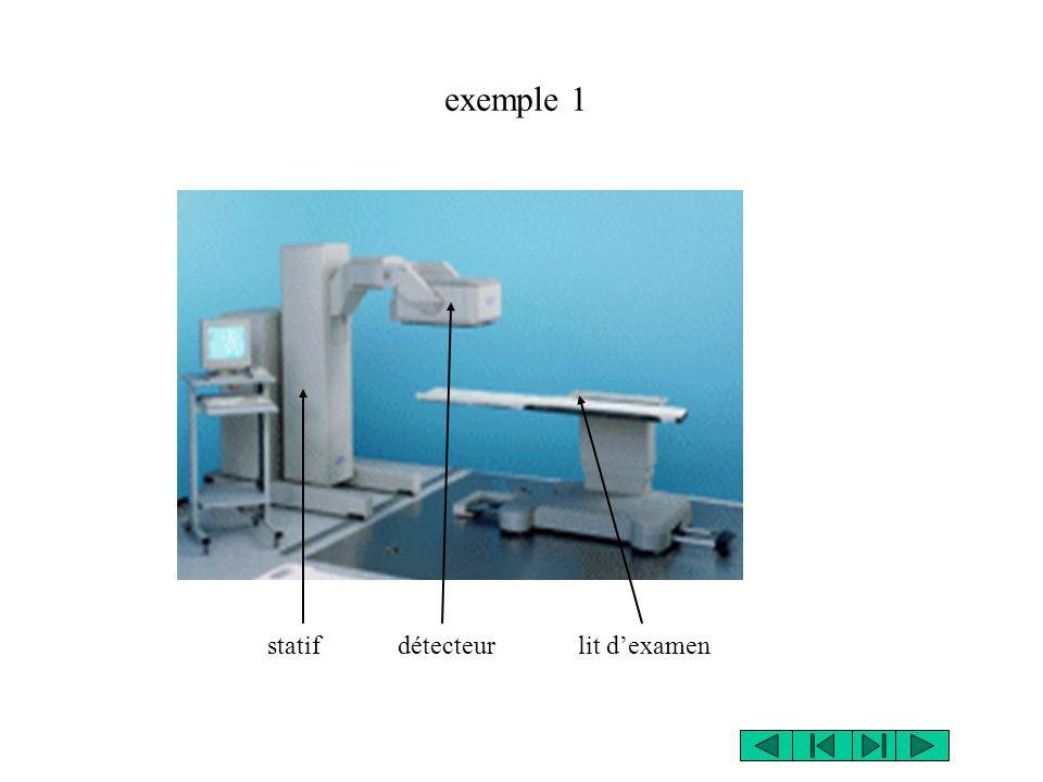 exemple 1 statif détecteur lit d'examen
