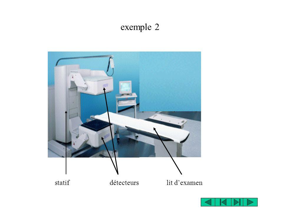 exemple 2 statif détecteurs lit d'examen