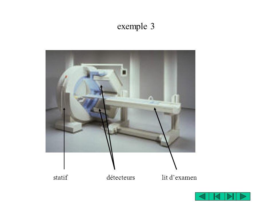 exemple 3 statif détecteurs lit d'examen