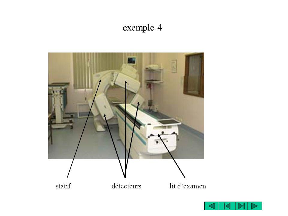 exemple 4 statif détecteurs lit d'examen