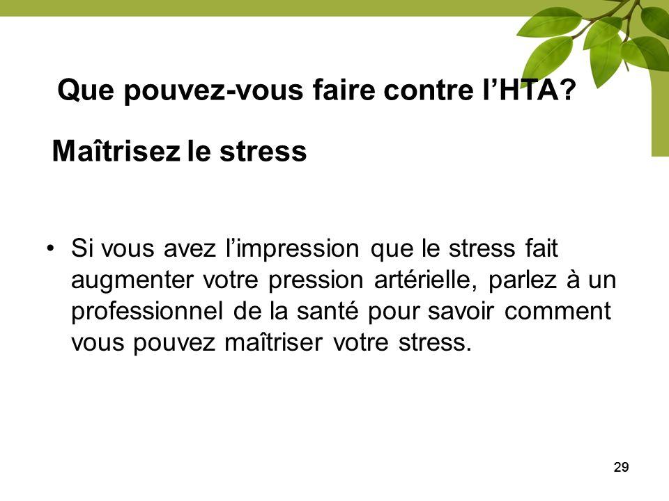 Que pouvez-vous faire contre l'HTA