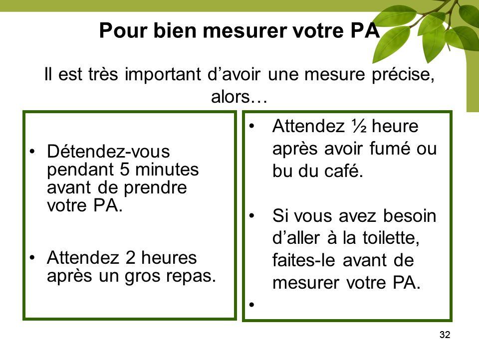 Pour bien mesurer votre PA