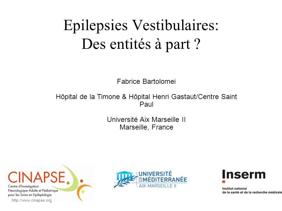 Epilepsies Vestibulaires: Des entités à part