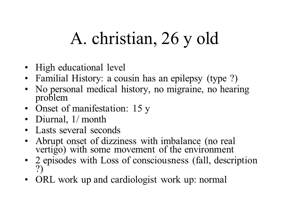 A. christian, 26 y old High educational level