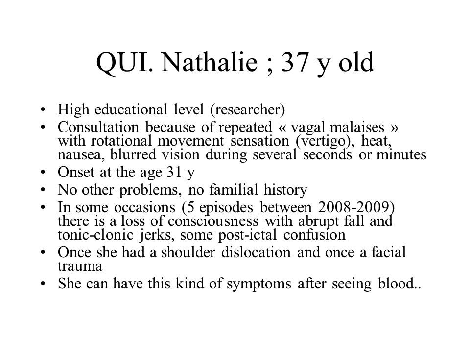 QUI. Nathalie ; 37 y old High educational level (researcher)