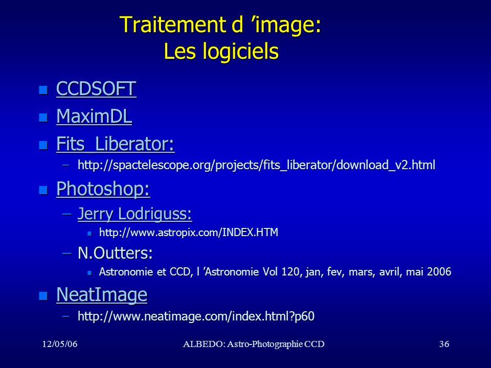 Traitement d 'image: Les logiciels