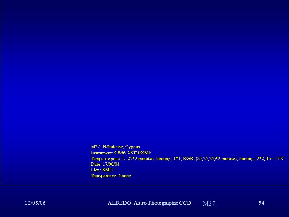 ALBEDO: Astro-Photographie CCD