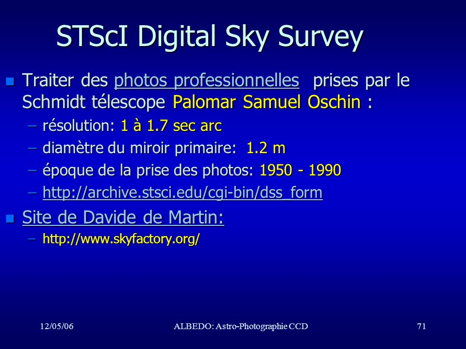 STScI Digital Sky Survey