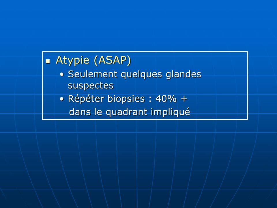 Atypie (ASAP) Seulement quelques glandes suspectes