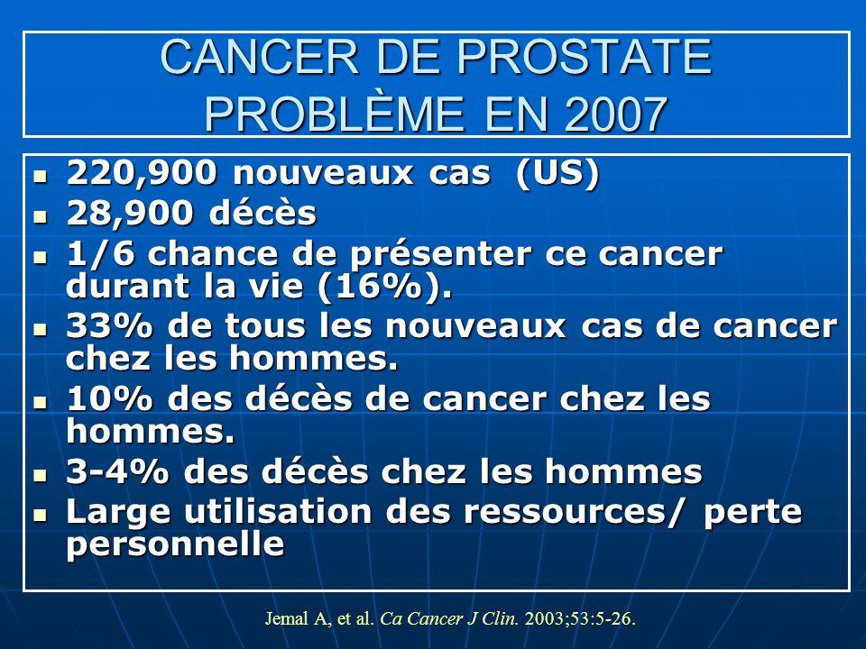 CANCER DE PROSTATE PROBLÈME EN 2007