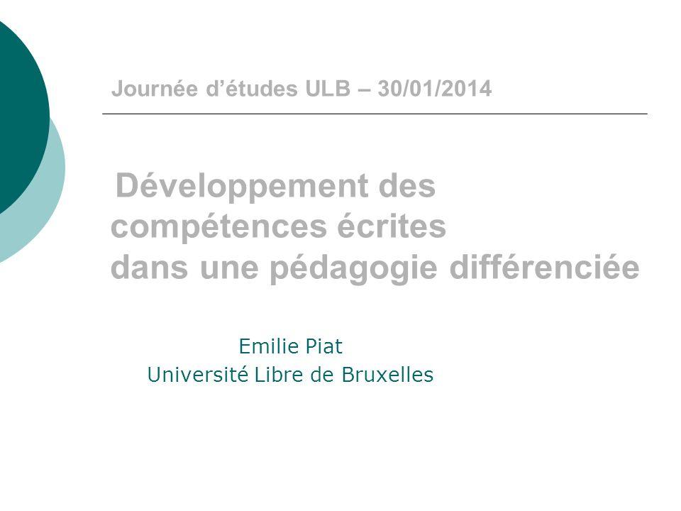 Emilie Piat Université Libre de Bruxelles
