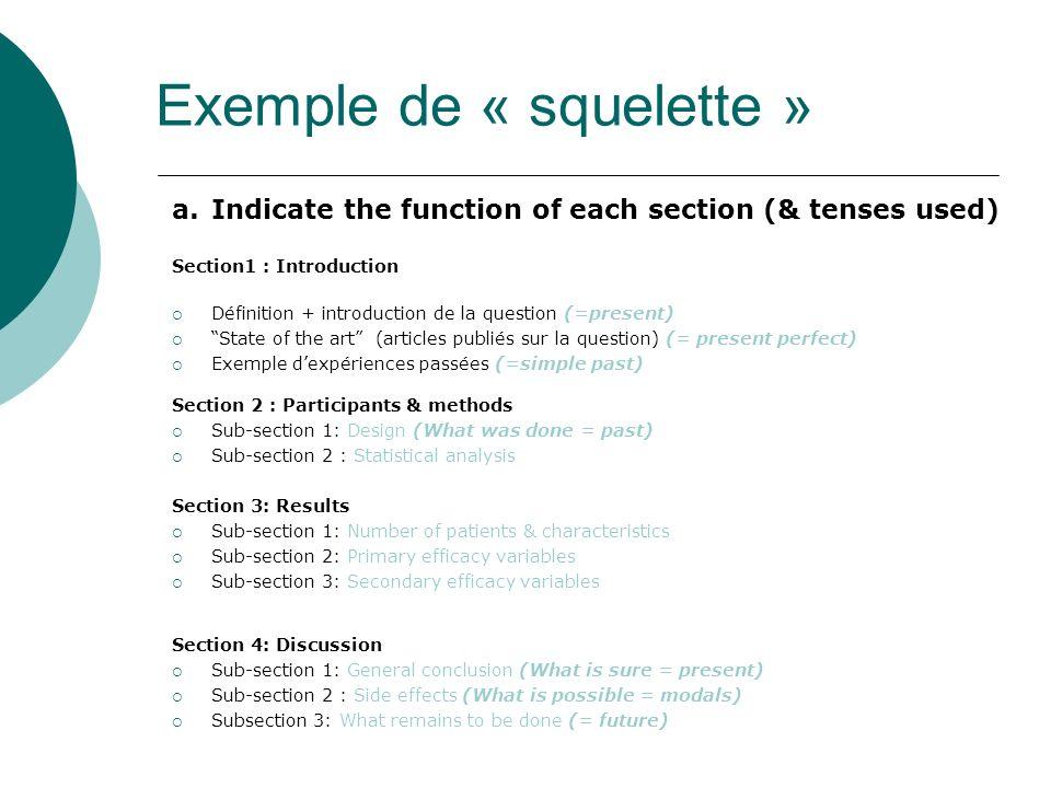 Exemple de « squelette »