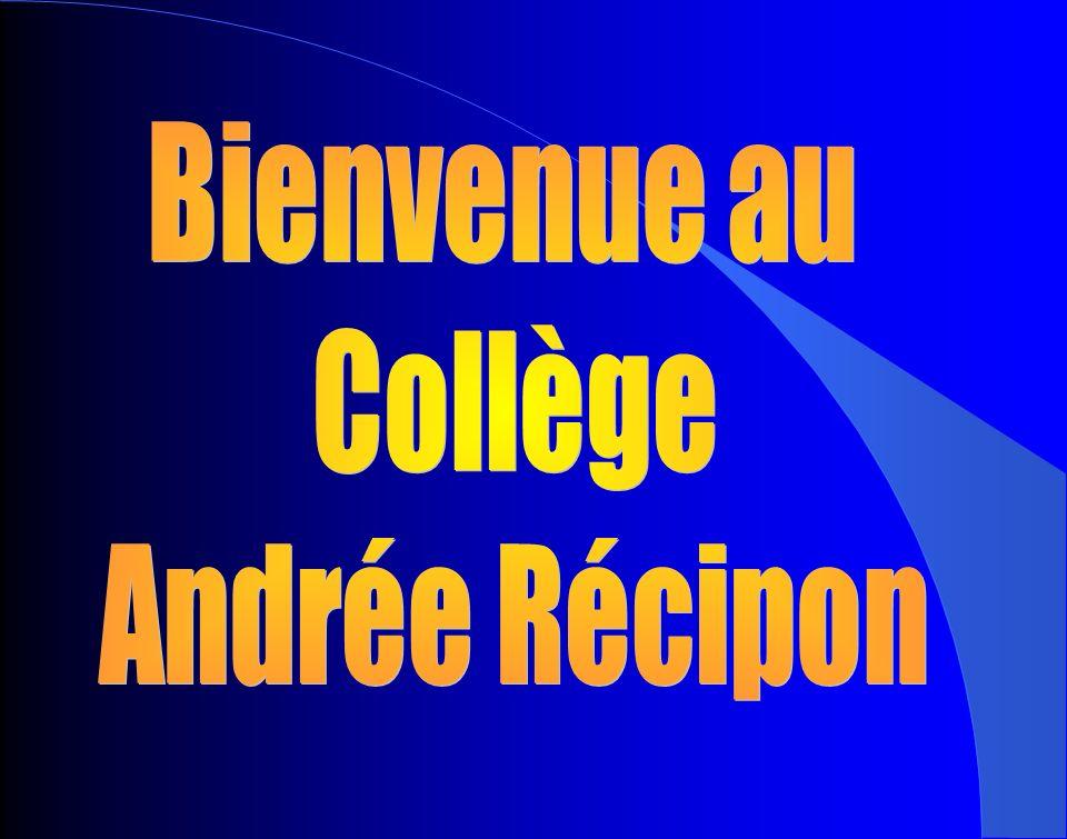 Bienvenue au Collège Andrée Récipon
