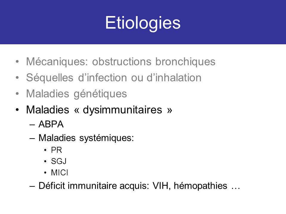 Etiologies Mécaniques: obstructions bronchiques