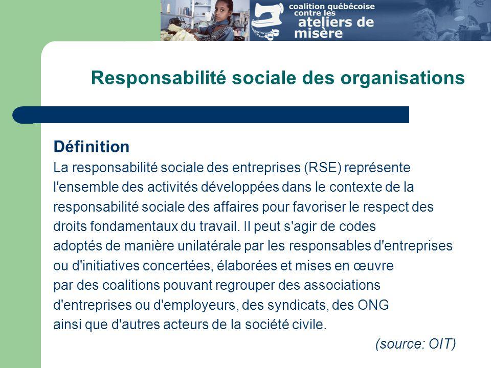 Responsabilité sociale des organisations