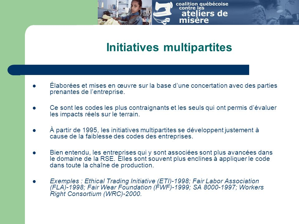 Initiatives multipartites