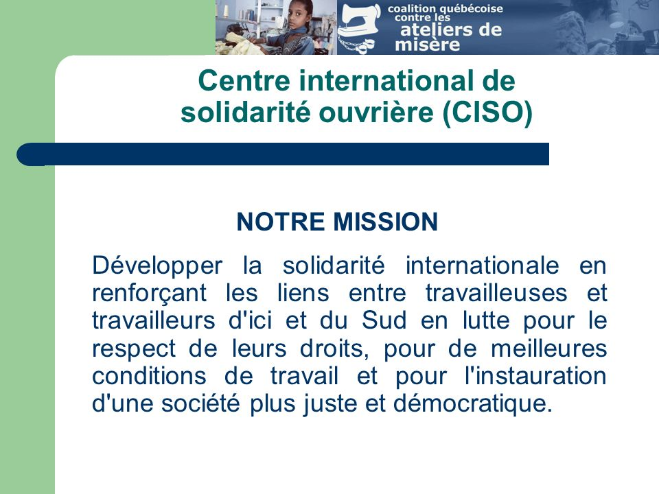 Centre international de solidarité ouvrière (CISO)