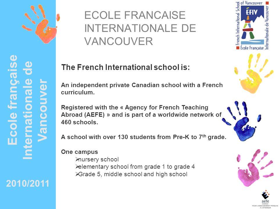 ECOLE FRANCAISE INTERNATIONALE DE VANCOUVER