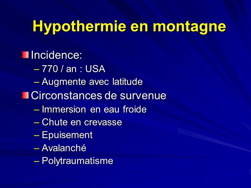 Hypothermie en montagne