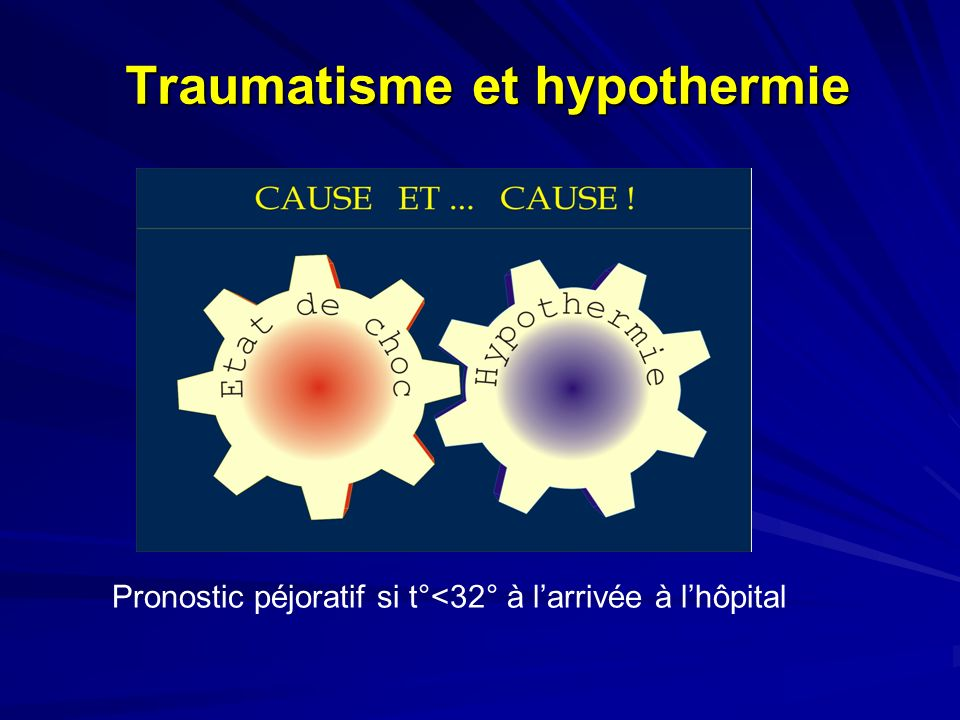 Traumatisme et hypothermie