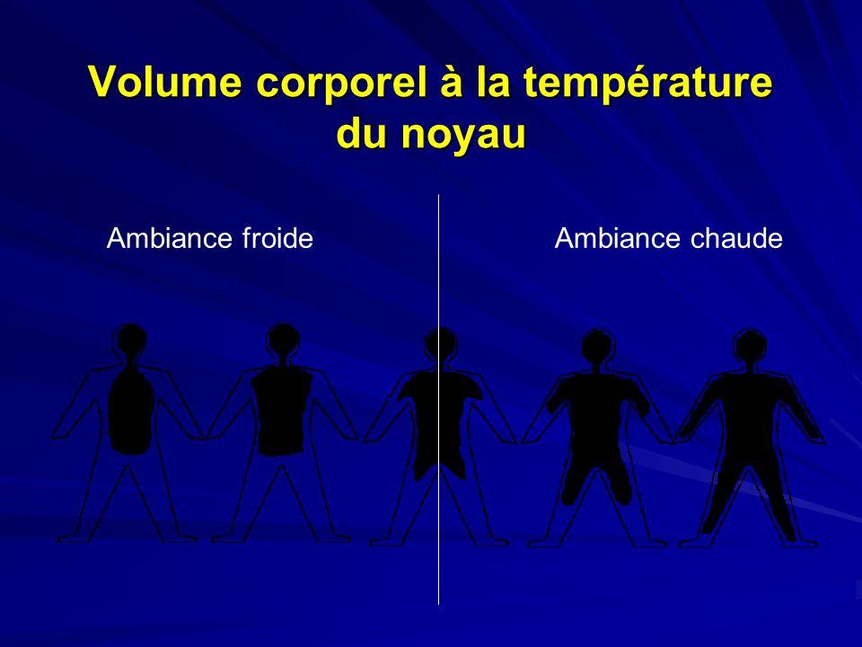 Volume corporel à la température du noyau