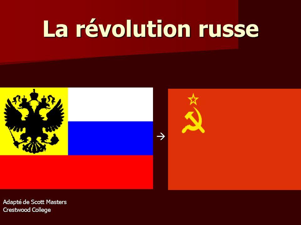 La révolution russe  Adapté de Scott Masters Crestwood College