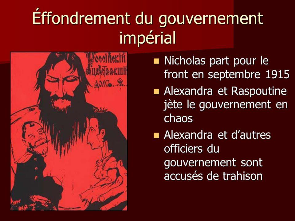 Éffondrement du gouvernement impérial