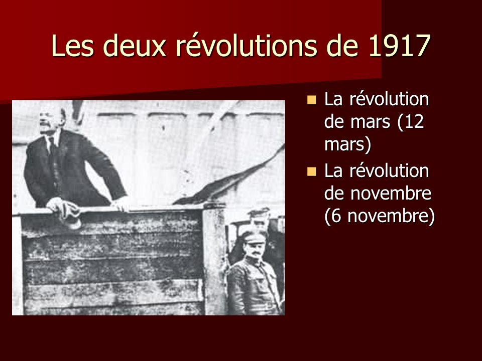 Les deux révolutions de 1917