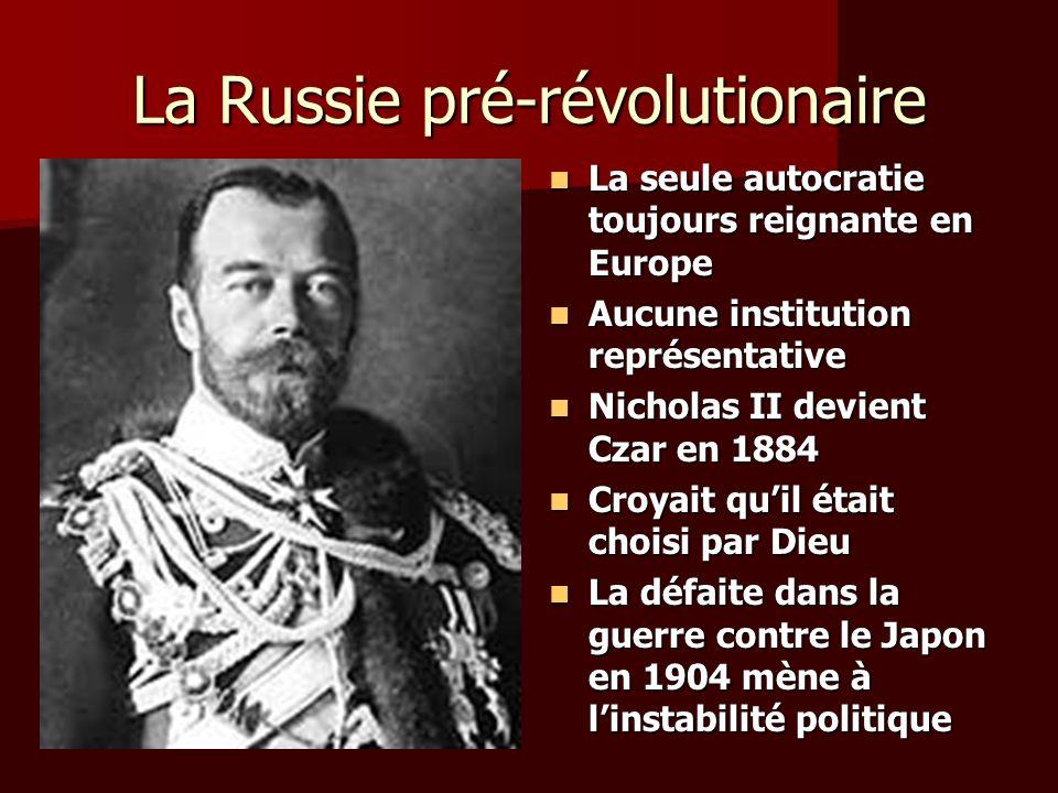 La Russie pré-révolutionaire