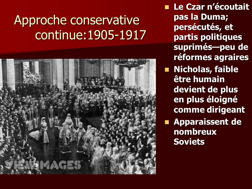 Approche conservative continue:1905-1917