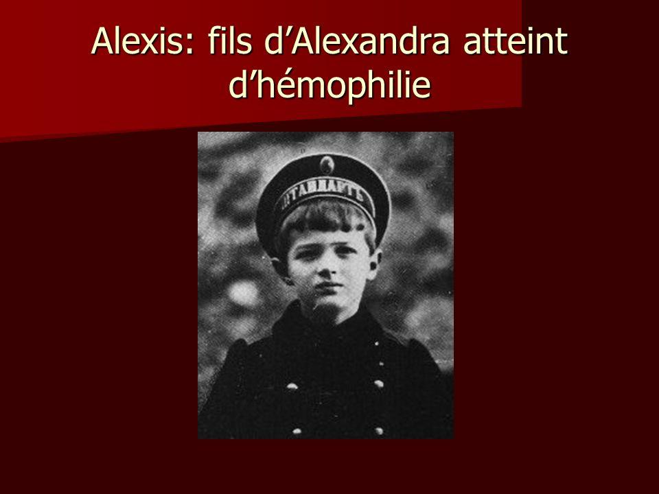 Alexis: fils d'Alexandra atteint d'hémophilie