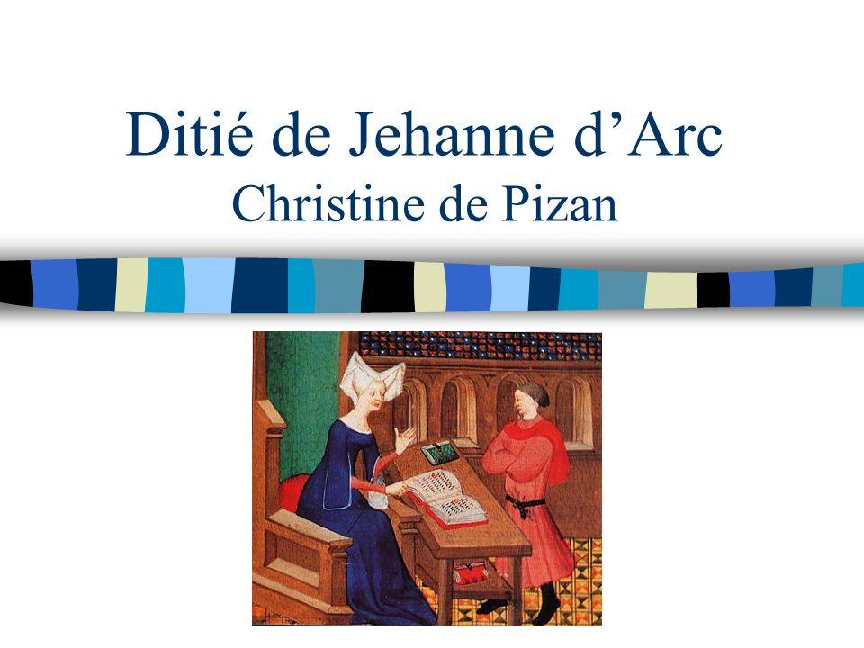 Ditié de Jehanne d'Arc Christine de Pizan