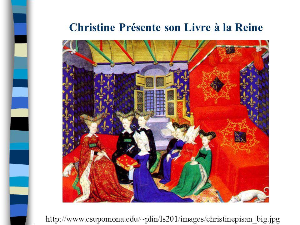 Christine Présente son Livre à la Reine