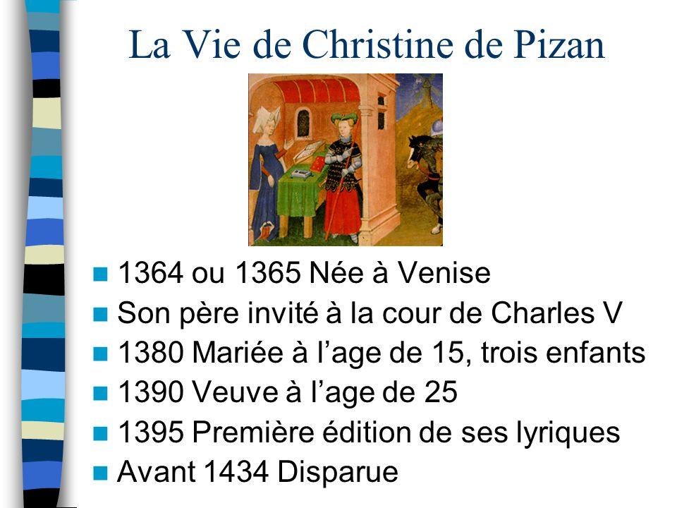 La Vie de Christine de Pizan