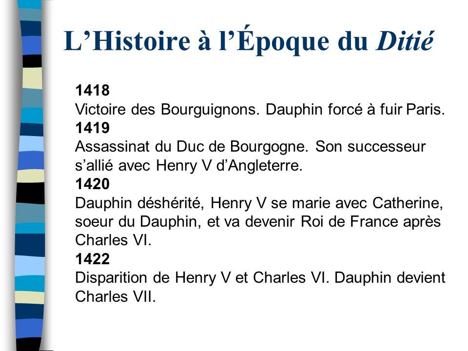 L'Histoire à l'Époque du Ditié