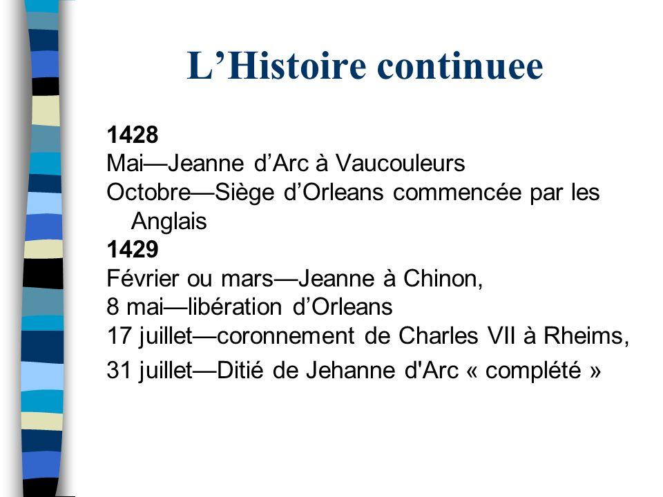 L'Histoire continuee 1428 Mai—Jeanne d'Arc à Vaucouleurs