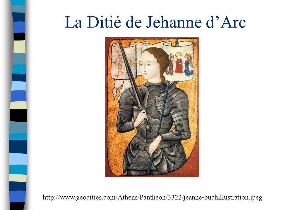 La Ditié de Jehanne d'Arc