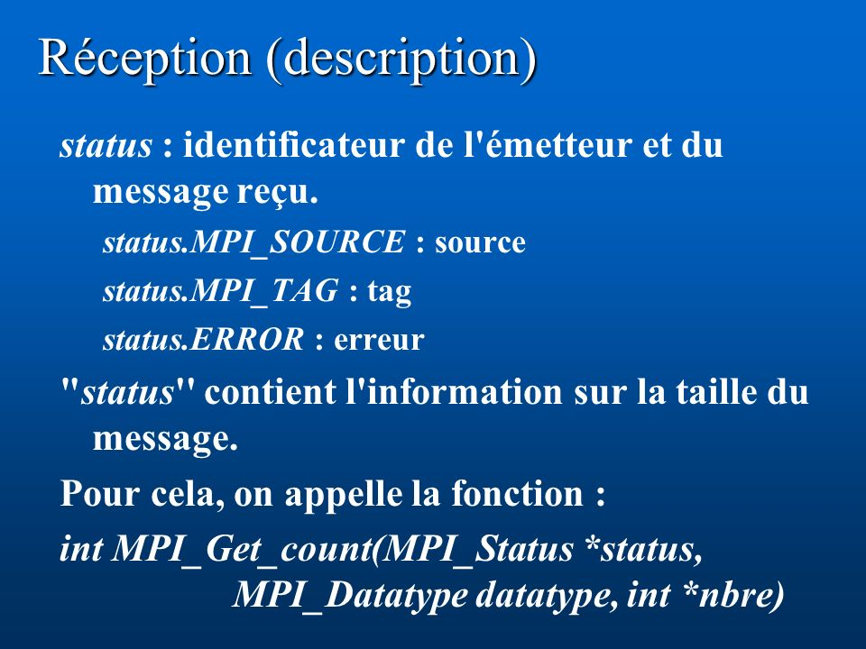 Réception (description)