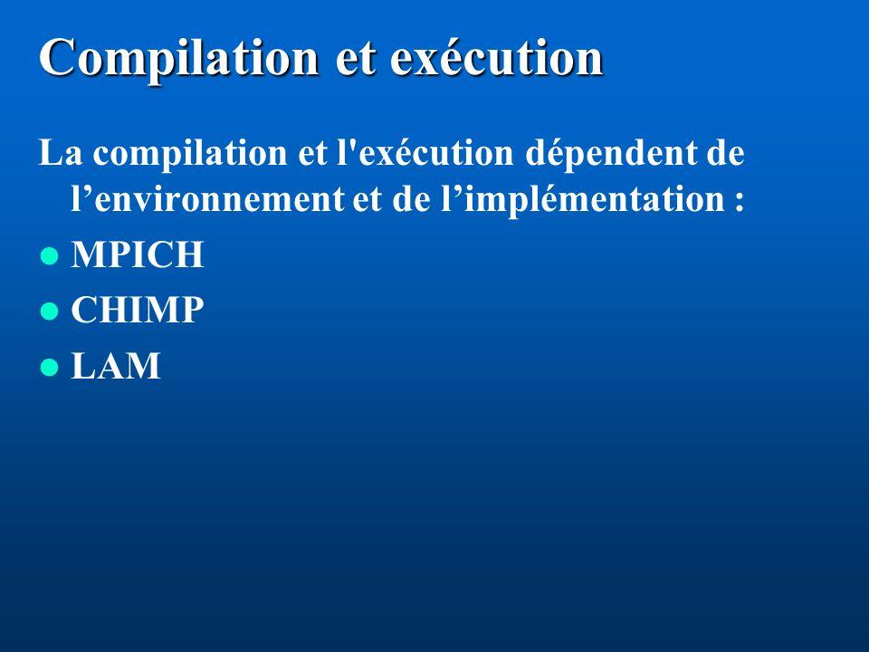 Compilation et exécution