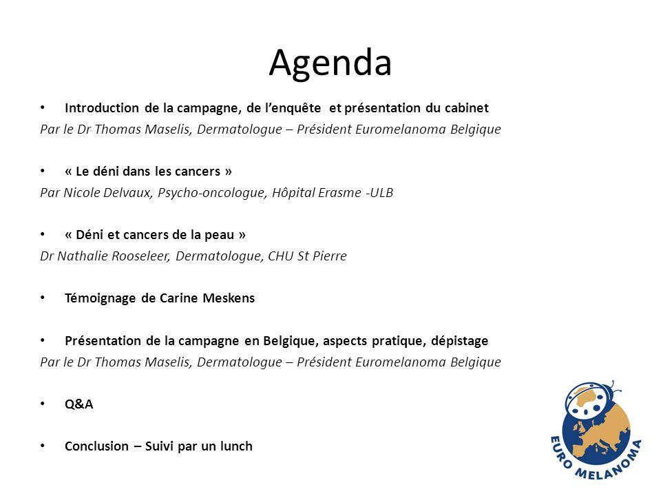 Agenda Introduction de la campagne, de l'enquête et présentation du cabinet.