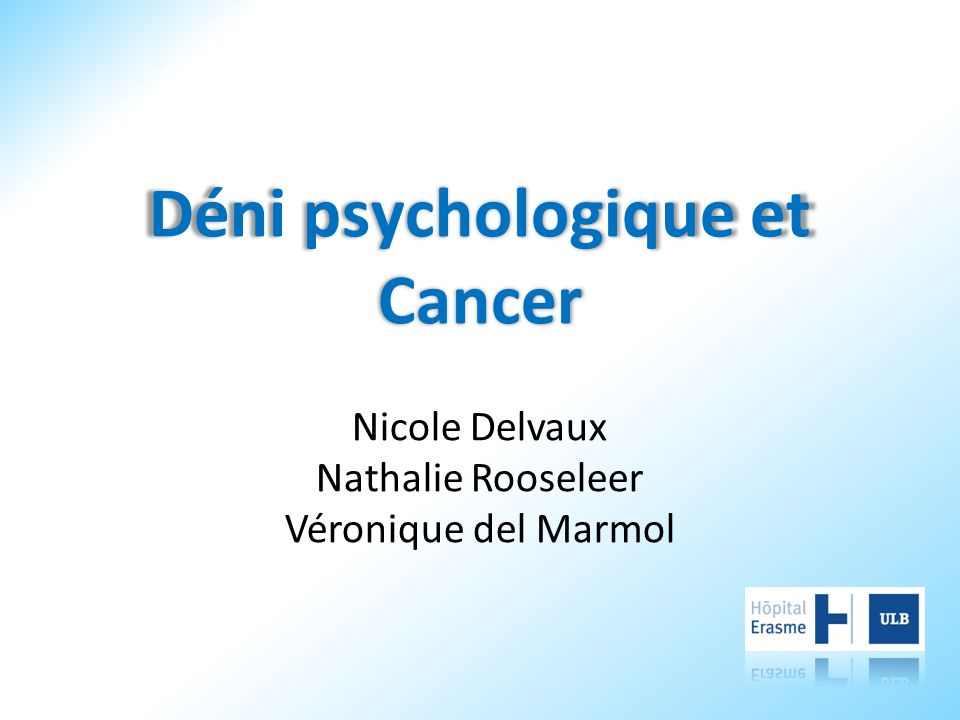 Déni psychologique et Cancer